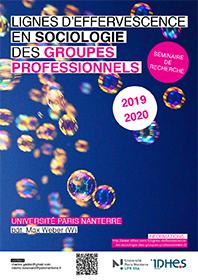 """Vignette de l'affiche du séminaire """"Lignes d'effervescence en sociologie des groupes professionnels"""", 2019-2020"""