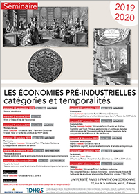 """Vignette de l'affiche """"Les économies pré-industrielles"""" 2019-2020"""