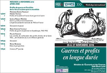 Vignette du programme workshop international Guerre et profits en longue durée